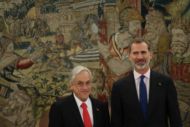 Sebastián Piñera, Presidente do Chile (esq.)