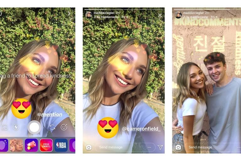 Instagram lança filtro para espalhar bondade