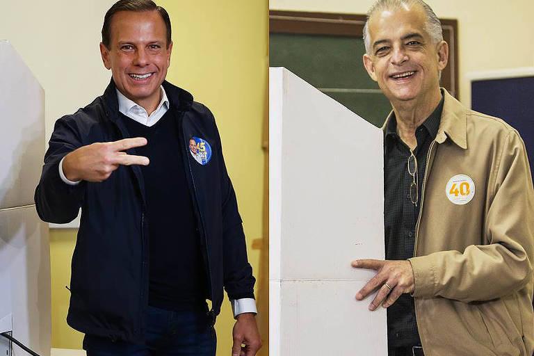 Os candidatos João Doria (PSDB) e Márcio França (PSB) votam em colégios de São Paulo