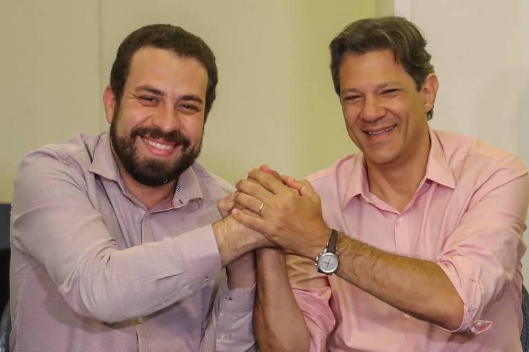 Haddad e Guilherme Boulos anunciam aliança pela democracia