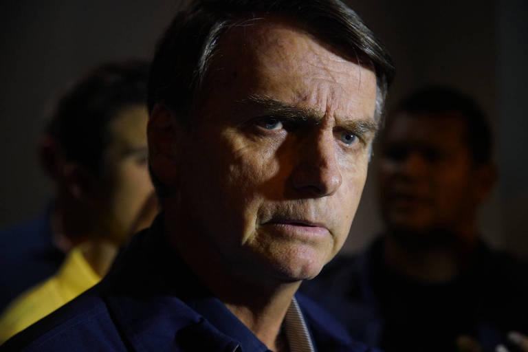 O presidenciável Jair Bolsonaro (PSL), que lamenta agressões mas diz não ter como controlar seus seguidores