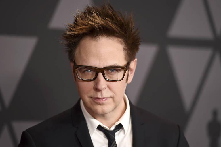 O diretor James Gunn, durante premiação em Los Angeles