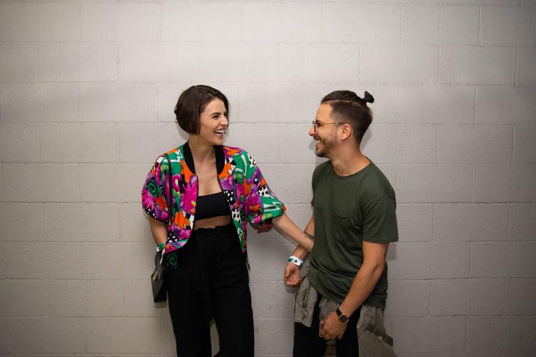 O músico Junior Lima e sua mulher, Monica Benini
