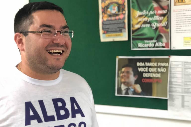 O vereador de Blumenau Ricardo Alba (PSL), eleito o deputado estadual mais votado de Santa Catarina