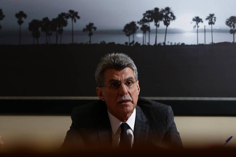 O senador Romero Jucá (MDB-RR) durante entrevista exclusiva em seu gabinete, no senado federal