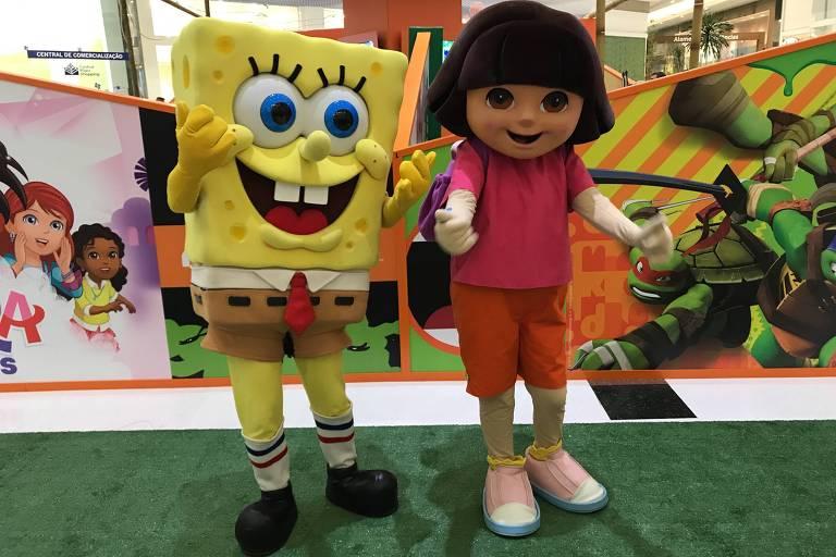 Bob Esponja e Dora Aventureira na Arena Nickelodeon