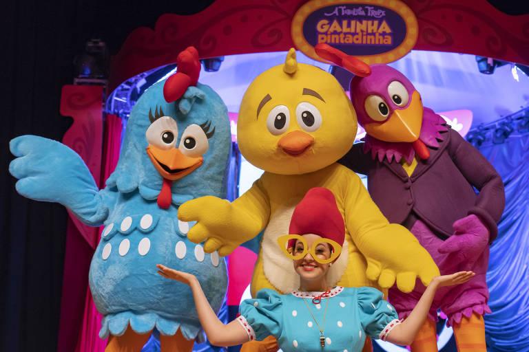 """A personagem Galinha Pintadinha estrela a peça """"A Galinha Pintadinha e a Fabulosa Trupe"""""""