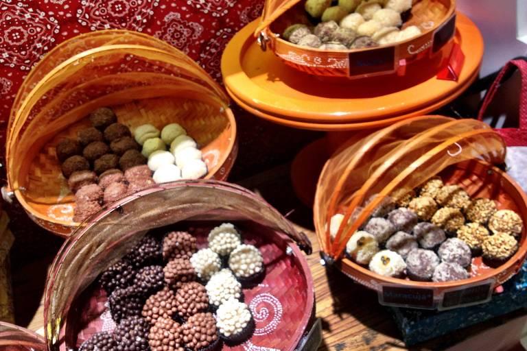 Brigaderia serve diversos doces para os pequenos