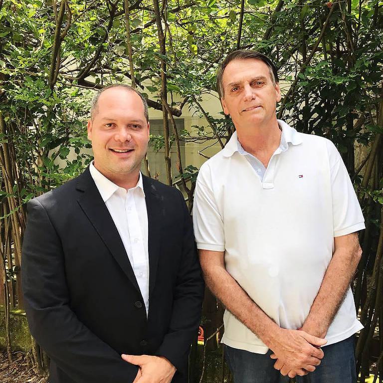 Heitor Freire, deputado federal eleito pelo PS, e Jair Bolsonaro