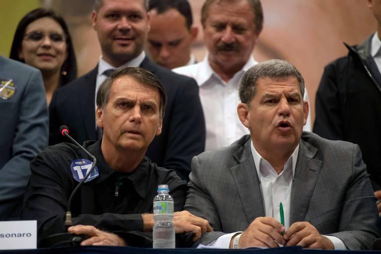 Candidato à Presidência pelo PSL durante coletiva de imprensa no Rio de Janeiro