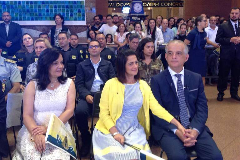 O candidato ao Governo de São Paulo, Márcio França (PSB), durante celebração no Santuário Nacional de Aparecida, nesta sexta (12)