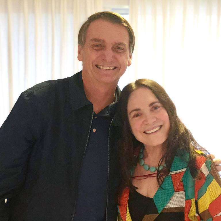 Regina Duarte foi convidada por Jair Bolsonaro para assumir a secretaria de Cultura