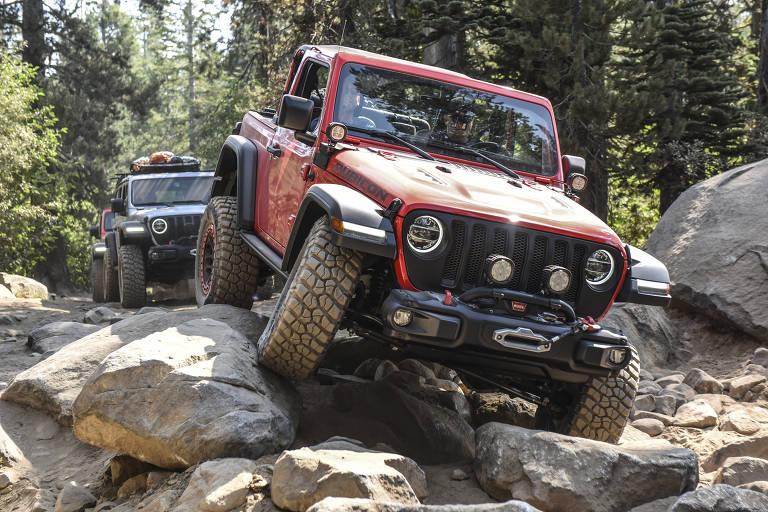 Jeep Wrangler na trilha Rubicon