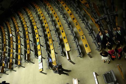 BRASILIA, DF,  BRASIL,  04-08-2018, 12h00: O presidente da câmara dos deputados Rodrigo Maia (DEM-RJ) no plenário da câmara, enquanto aguardava o quórum para iniciar as votações na casa. (Foto: Pedro Ladeira/Folhapress, PODER)