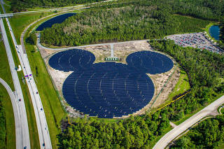 A 22-acre solar facility in the shape of Mickey Mouse near Walt Disney World, that was opened in 2016.