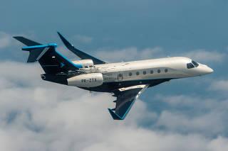 Embraer business jet plane the New Praetor 600 Bossa Nova Edition