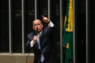 Onyx Lorenzoni na votação das 10 medidas contra a corrupção