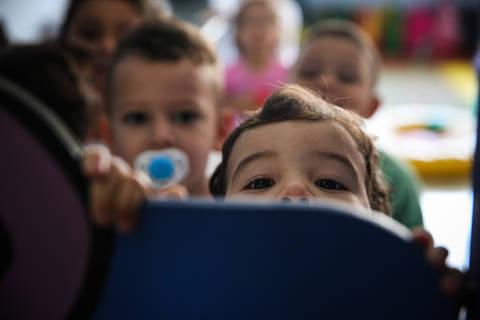 SAO PAULO/ SP, BRASIL, 10-10-2018: CEI Kandinsky - Reportagem mostra que a cidade de SP bateu a meta de criação de vagas em creche do Plano Nacional de Educação..   (Foto: Zanone Fraissat/Folhapress, COTIDIANO)***EXCLUSIVO****