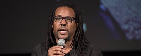 FILE - In this Oct. 20, 2017 file photo, Pulitzer Prize winning novelist Colson Whitehead speaks during the presentation of the Italian edition of his novel