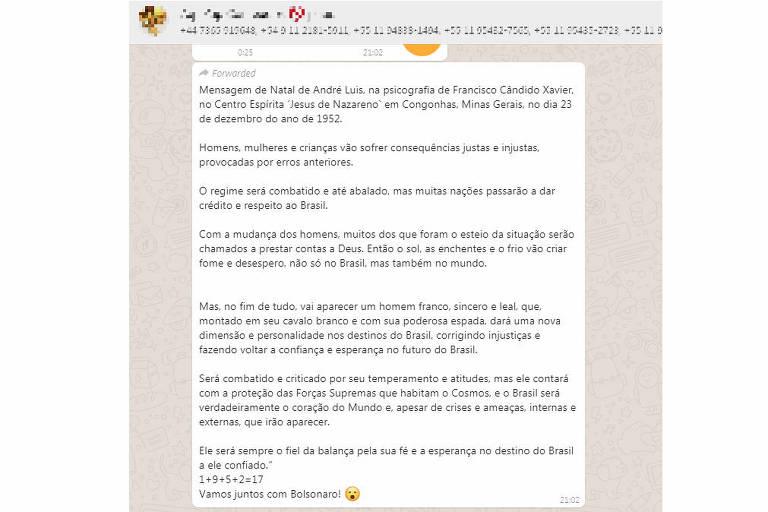 Mensagem atribuída a Chico Xavier com profecia sobre Jair Bolsonaro é falsa