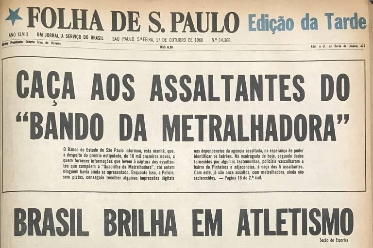 Capa da segunda edição da Folha de 17 de outubro de 1968
