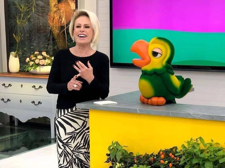 Ana Maria Braga e o papagaio Louro José