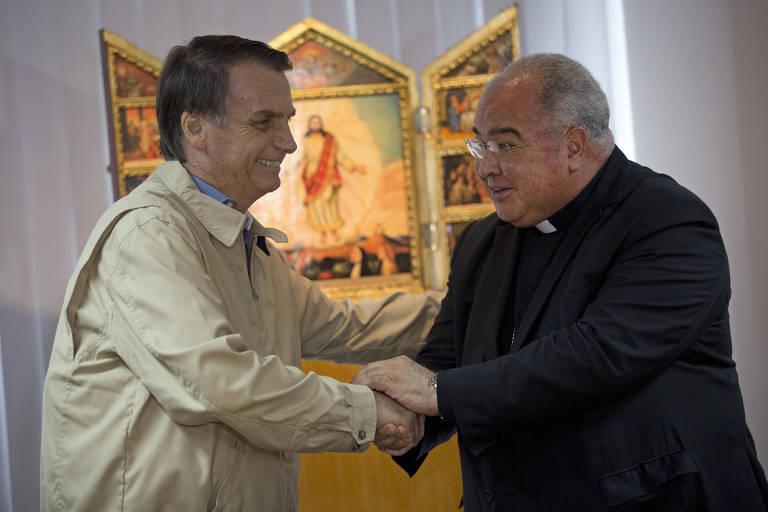 Candidato à Presidência pelo PSL, Jair Bolsonaro visita dom Orani Tempesta,  da Arquidiocese do Rio de Janeiro