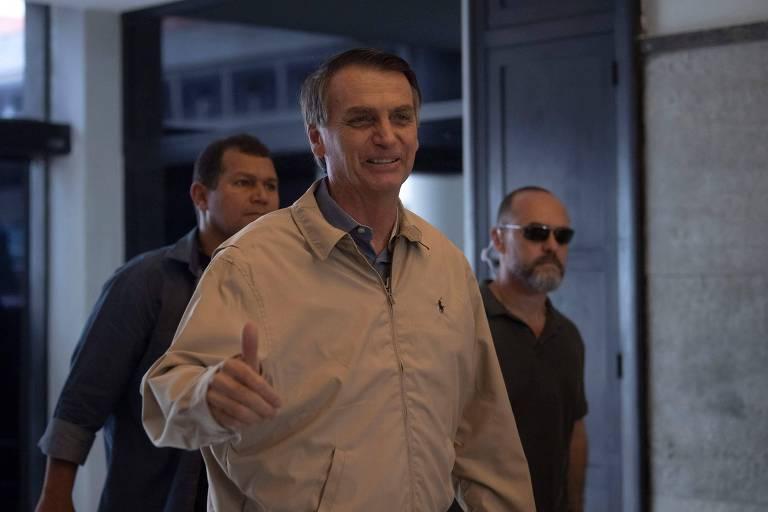 O candidato à Presidência Jair Bolsonaro visita Polícia Federal no Rio de Janeiro