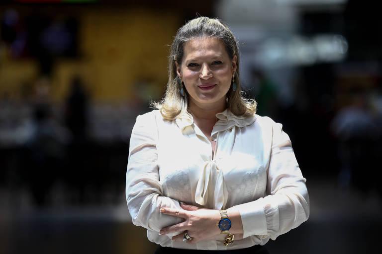 A deputada eleita por São Paulo Joice Hasselmann (PSL), após desembarcar no aeroporto de Brasília