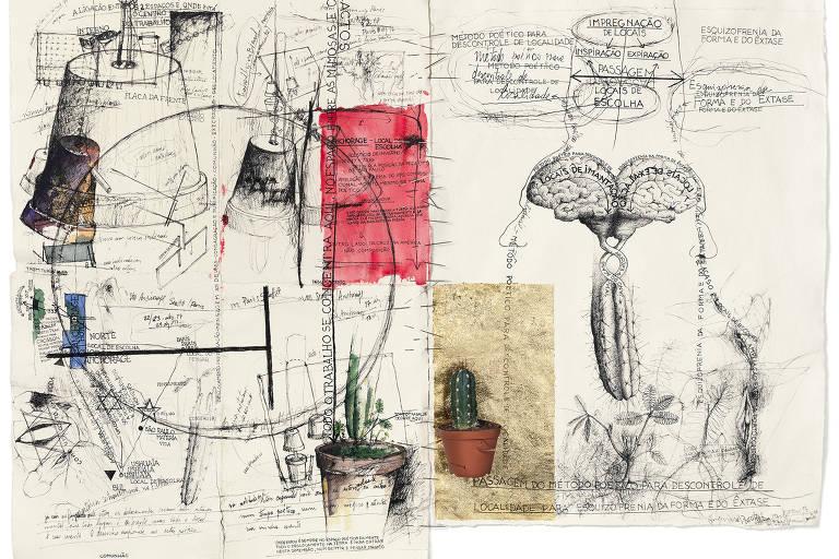 Desenhos da exposição 'Esquizofrenia da Forma e do Êxtase', na Galeria Millan