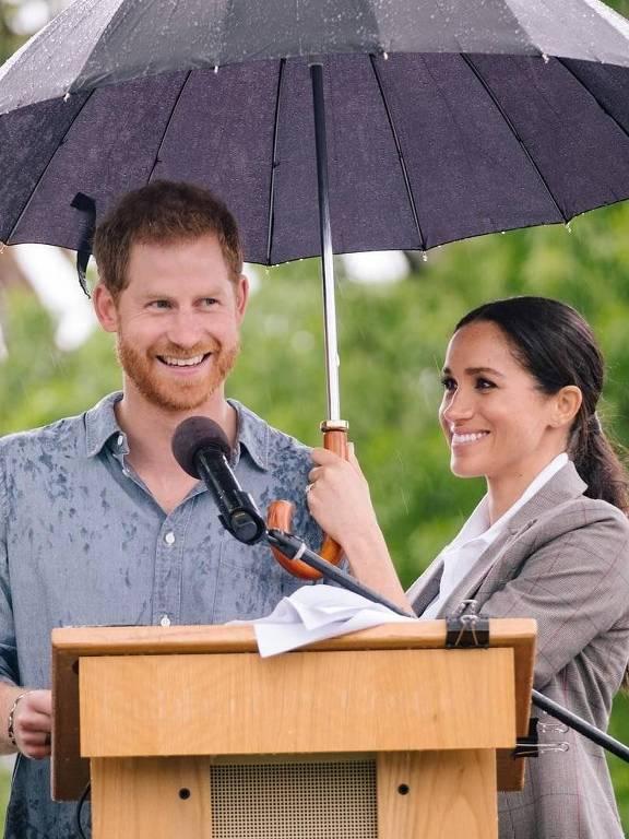 Imagens de Príncipe Harry e  Meghan Markle