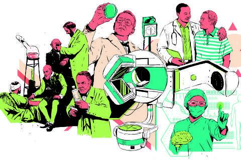 Ilustração para Saúde sobre o Dia do Médico