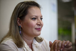 A deputada eleita Joice Hasselmann (PSL), no aeroporto de Brasília