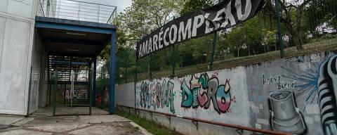 Rio de Janeiro, Rj, BRASIL. 04/10/2018; Arena Carioca Dicró, na Penha (zona norte), O espaço cultural foi usado por militares como base durante operações na regiao.   ( Foto: Ricardo Borges/Folhapress)