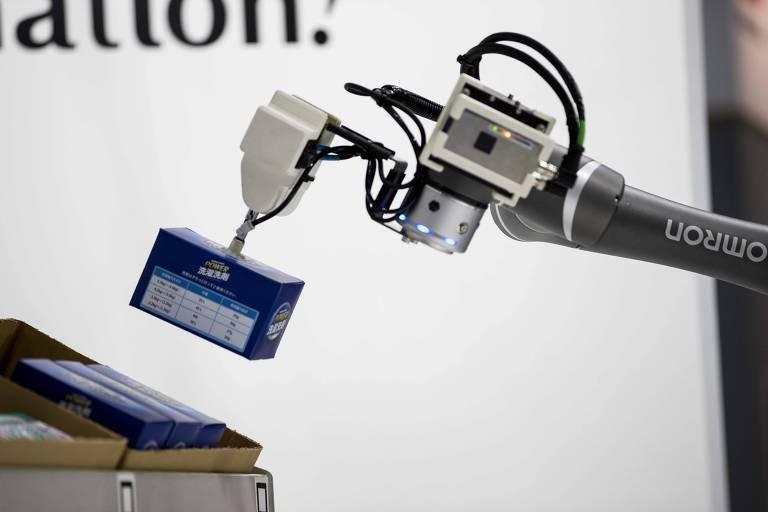 Robô em evento de robótica no Japão; país está entre os líderes de automação