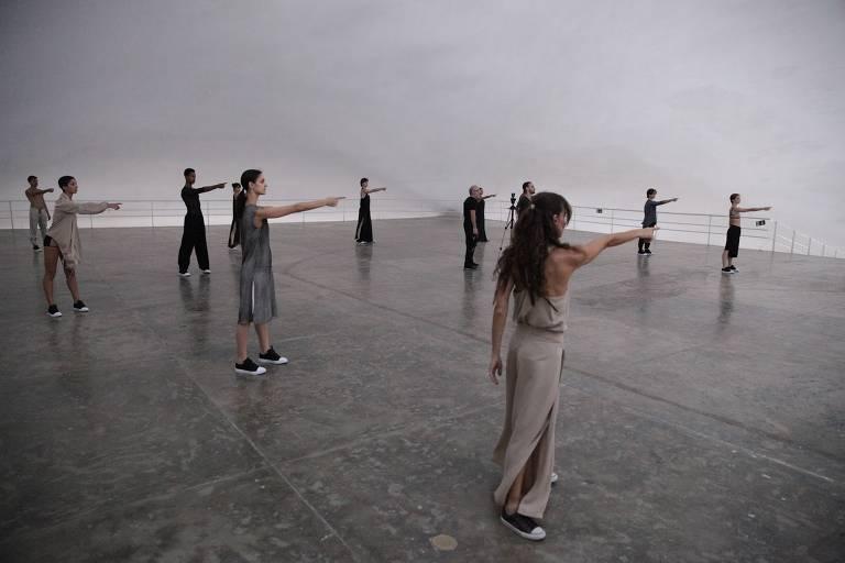 """Cena de """"Mira"""", espetáculo em realidade virtual da São Paulo Companhia de Dança"""