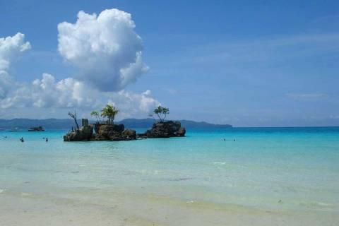 White Beach, em Boracay, nas Filipinas ***DIREITOS RESERVADOS. NÃO PUBLICAR SEM AUTORIZAÇÃO DO DETENTOR DOS DIREITOS AUTORAIS E DE IMAGEM***