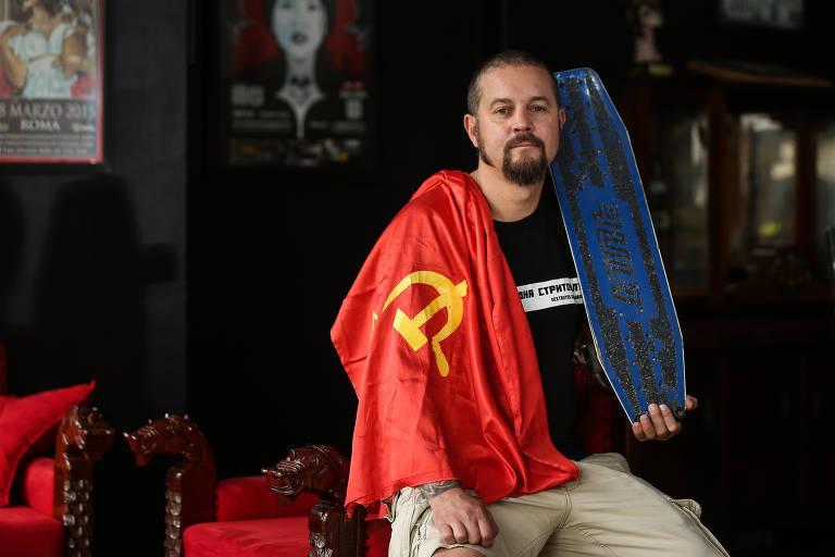 O russo Gleb Bentsiovsk traz ao Brasil exposição sobre a história do skate soviético