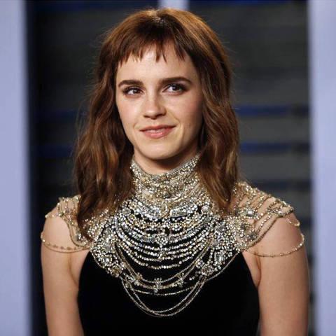 Atriz Emma Watson chega para festa do Oscar organizada pela revista Vanity Fair em Beverly Hills DIREITOS RESERVADOS. NÃO PUBLICAR SEM AUTORIZAÇÃO DO DETENTOR DOS DIREITOS AUTORAIS E DE IMAGEM