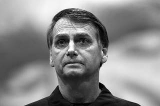 Presidential candidate Jair Bolsonaro is pictured during a news conference in Rio de Janeiro