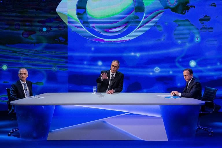 Veja imagens do debate ao Governo de SP na Band