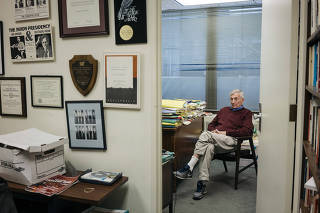 Seymour Hersh, the investigative reporter, in his office in Washington.