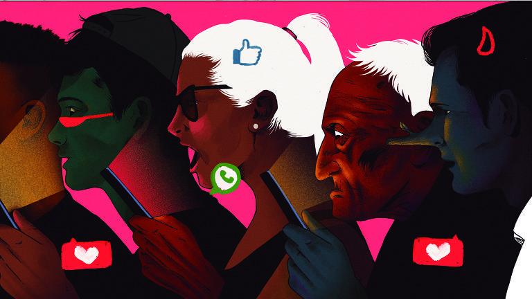 pessoas usando apps de celular