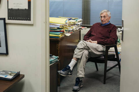 Seymour Hersh, the investigative reporter, in his office in Washington, May 18, 2018. In his memoir, ?Reporter,? Hersh revisits his coverage of Vietnam, Nixon and Osama bin Laden. ?I will happily permit history to be the judge of my recent work.? (Lexey Swall/The New York Times) ORG XMIT: XNYT79