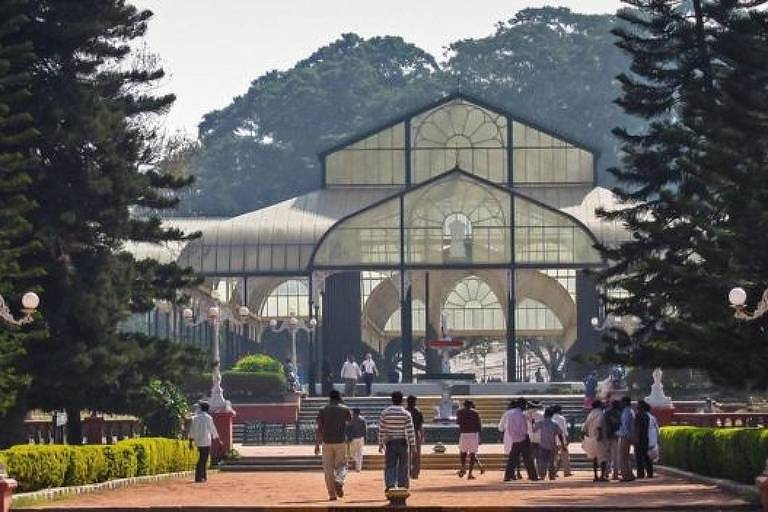 Os Jardins Botânicos de Lalbagh são um tesouro em uma das cidades que crescem mais rapidamente na Ásia