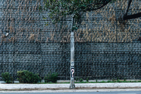 São Paulo, SP, Brasil, 20-10-2018: Jardim vertical da 23 de maio inaugurado pelo ex-prefeito João Doria (PSDB) está deteriorado por falta de manutenção. (foto Gabriel Cabral/Folhapress)