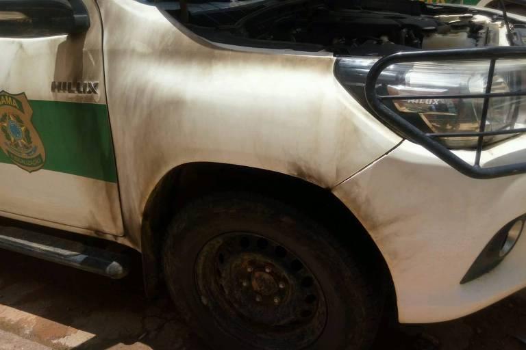 Caminhonete do Ibama alvo de ataque em Buritis (RO)