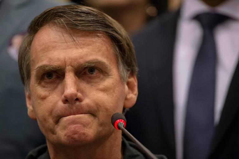 O candidato à Presidência Jair Bolsonaro (PSL)