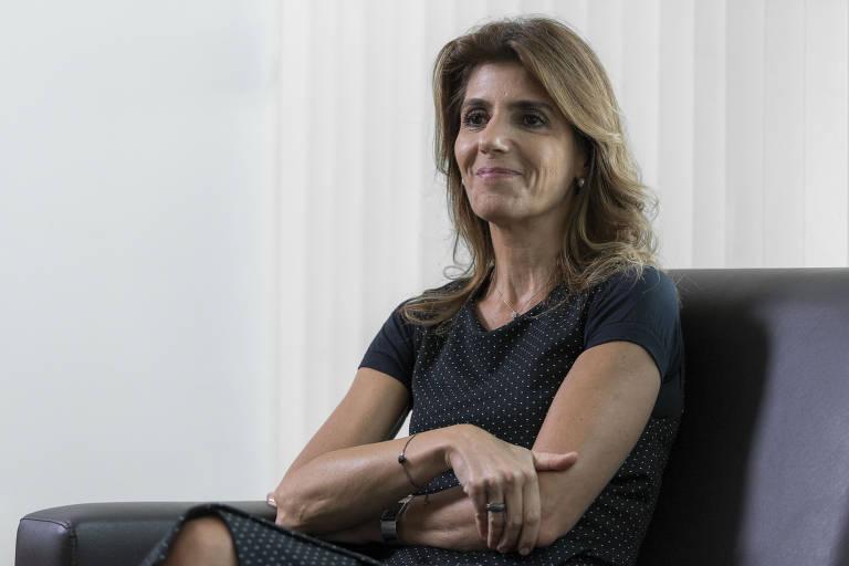 Ana Estela Haddad durante entrevista