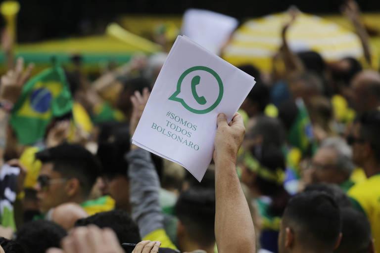 Às vésperas do 2º turno, manifestantes fazem ato favorável a Bolsonaro